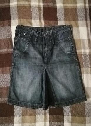 Джинсовая юбка до колена g-star, талия 76, бедра 96, длина 52