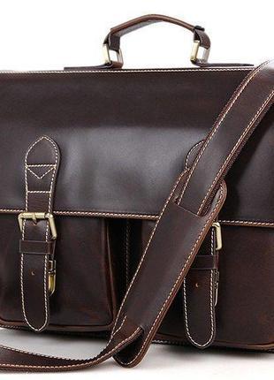 Портфель vintage 14434 коричневый