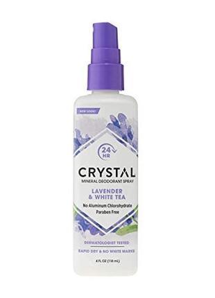Crystal дезодорант-спрей с ароматом лаванды и белого чая , 118 мл.
