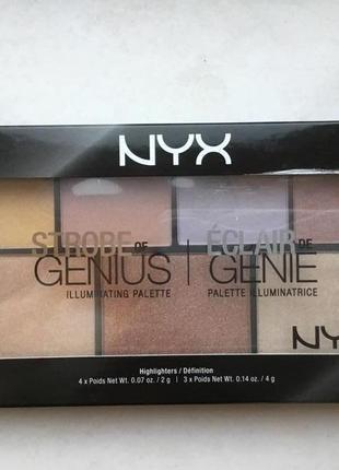 Палетка для стробинга nyx professional makeup strobe of genius оригинал