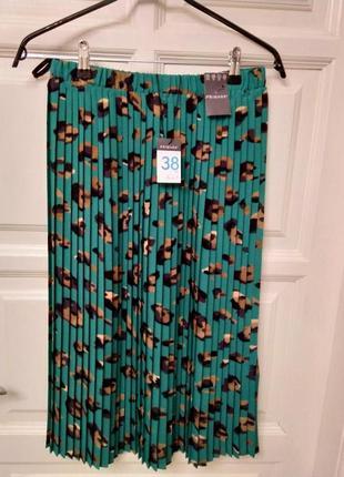 Модная плиссированная принтованная юбка бренда primark