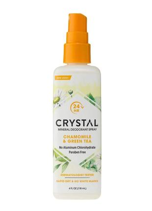 Crystal  дезодорант-спрей с ароматом ромашки и зеленого чая, 118 мл.