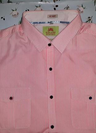 Акция 1+1=3 стильная рубашка river island, премиум серия, размер 50 - 52