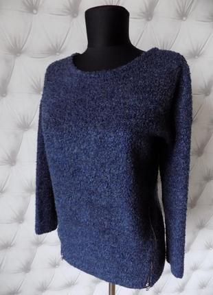Тёплый буклированный пуловер с молниями2 фото