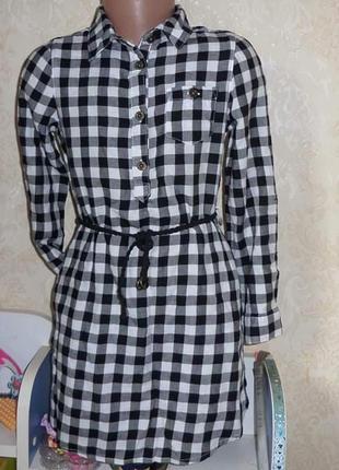 Платье рубашка h&m 3-4, 7-8