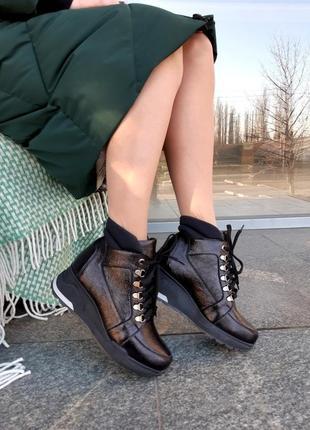 Ботинки женские натуральная кожа зима