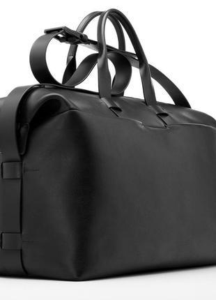 Презентабельная статусная кожаная дорожная сумка для спортзала ручная работа