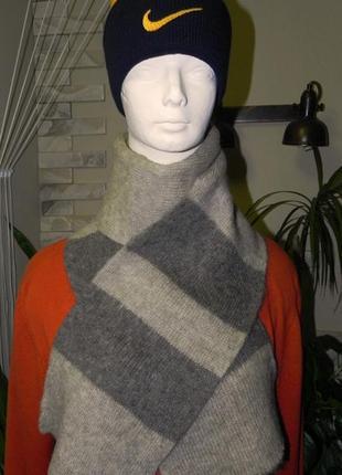 Большой теплый шарф  180/23 - 100%-исландская шерсть *алафосс*
