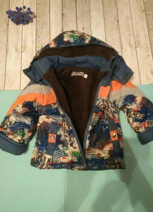 Обалденная стильная зимняя курточка для мальчика