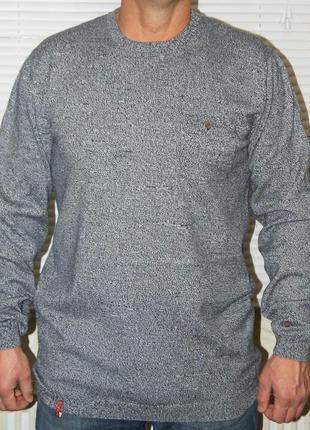 Джемпер серо-синий пестрый 100% хлопок