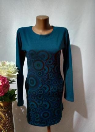 Платье туника в принт