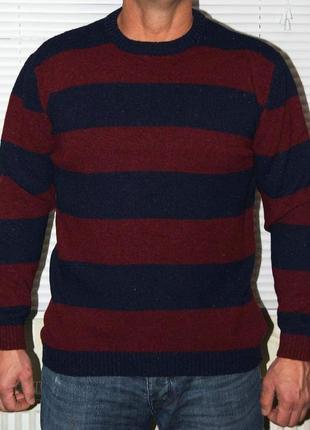 Джемпер полосатый 60% шерсть