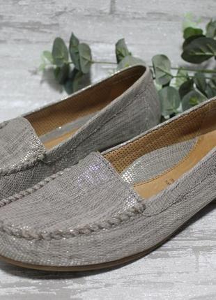 Стильные фирменные мокасины gabor mokassin handmade размер 38,5