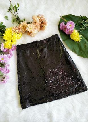Мега яскрава юбка в паєтках primark