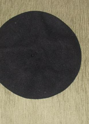 Теплый шерстяной берет в идеале 100% шерсть