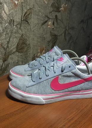 Nike sweet classic textile кроссовки кеды найк оригинал free run розовые стильные