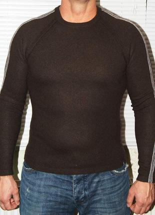 Джемпер темно-коричневый