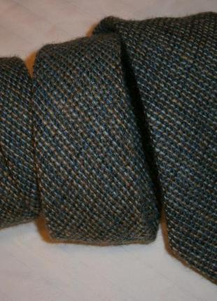 Модный узкий галстук шерсть