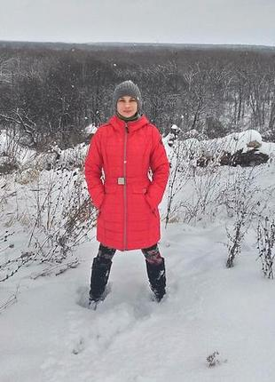Теплый пуховик зимняя куртка snowimage,био-пух