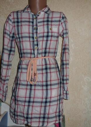 Платье - рубашка h&m 7-8