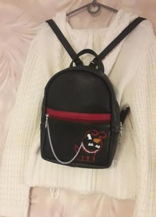 Кожаный рюкзак, черный кожаный рюкзак