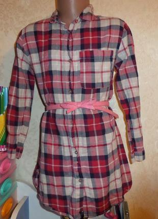 Платье-рубашка zara girls 7 лет, 122 см,