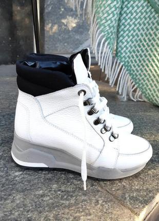 Зимние ботинки женские натуральная кожа(есть наложка)