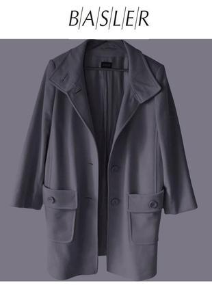 Xxxl – прямое шерстяное + кашемировое пальто basler - премиум – новое
