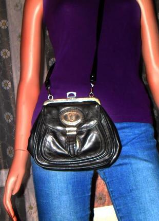 Кожаная сумка, с длинной ручкой кроссбоди original fashion, италия