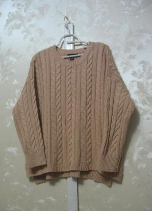 Теплый  свитер оверсайз с косами atmosphere