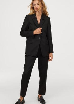 Жакет пиджак черный удлиненный