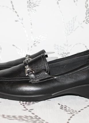 Комфортные кожаные туфли/мокасины ecco 42 размер 27,5 см стелька1 фото
