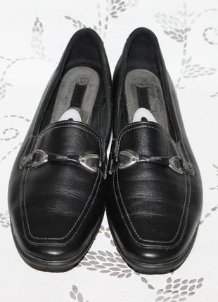 Комфортные кожаные туфли/мокасины ecco 42 размер 27,5 см стелька3 фото