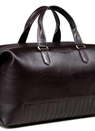 Элитная стильная дорожная премиум сумка для спротзала коричневая ручная работа