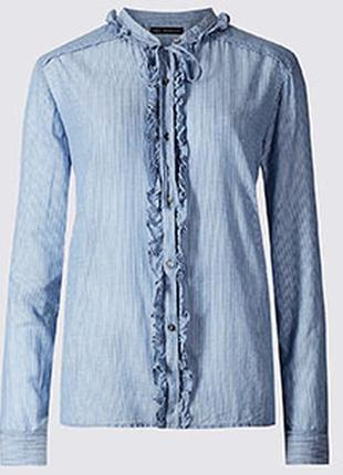 Коттоновая рубашка/блуза в полоску