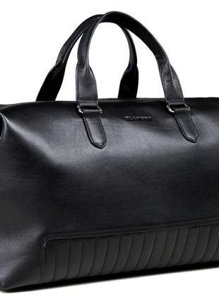 Элитная стильная премиум сумка черная дорожная для спортзала ручная работа