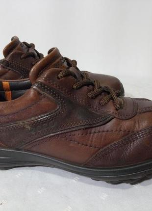 Кожаные ботинки,туфли ecco (эко), 42р,стелька27,5см. отличное состояние