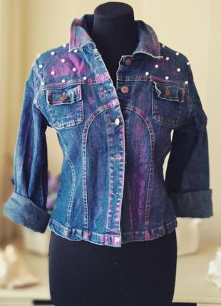 Джинсовый пиджак. курта джинсовая