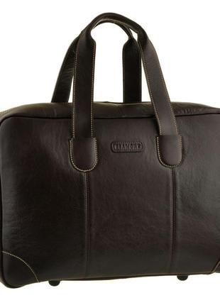 Эксклюзивная премиум коричневая сумка кожаная дорожная для спортзала ручная работа