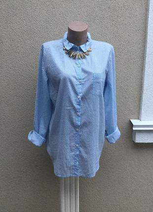 Легкая,воздушная рубашка,блуза из 100%эко хлопка,большой размер,marc o polo,