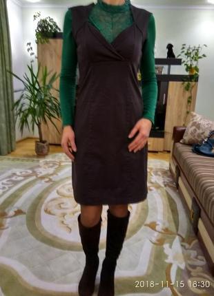 Скидка!!!!платье, миди, сарафан, котон) orsay