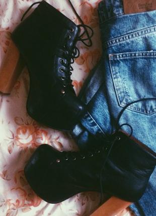 Jeffrey campbel ботильоны ботинки сапоги