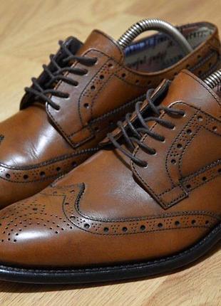 Marks & spencer , туфли, броги, кожа, оригинал стильные мужские