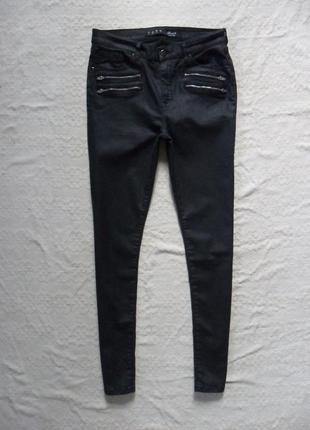 Стильные джинсы скинни с пропиткой под кожу denim co, l размер