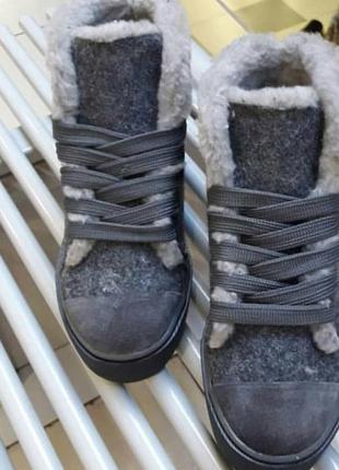 Женские зимние ботинки - кеды,  просто хит