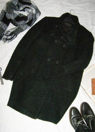 Красивенное шерстяное пальто бойфренд only