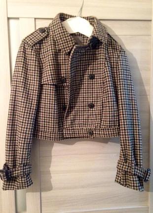 Укороченная куртка-пальто zara