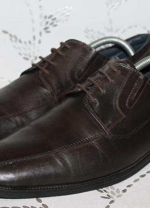 Фирменные кожаные туфли daniel hechter 41 размер 27 см стелька