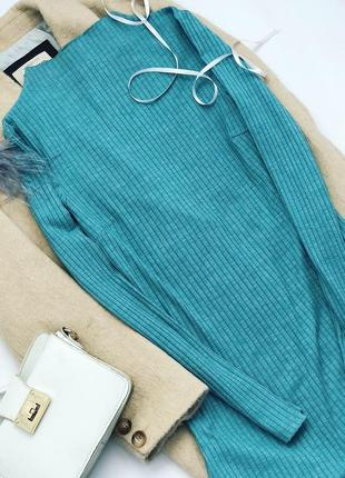 Платье в рубчик с горловиной  nly trend