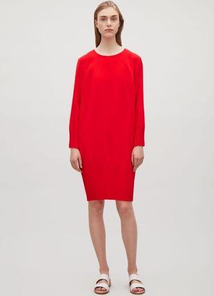 Cos яркое нарядное красное платье размер s